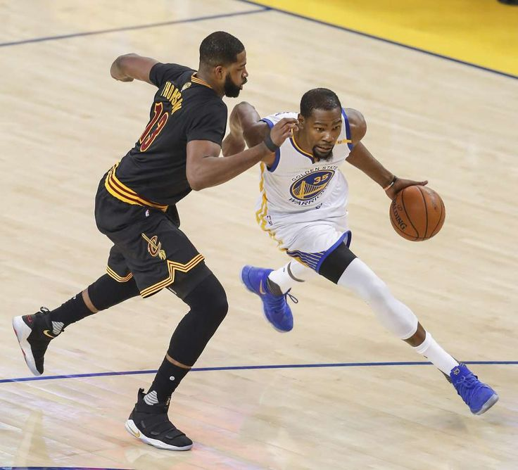 Golden State Warriors' Kevin Durant drives past Cleveland Cavaliers' Tristan Thompson in the first quarter during Game 5 of the 2017 NBA Finals at Oracle Arena on Monday, June 12, 2017 in Oakland, Calif. Photo: Scott Strazzante, The Chronicle