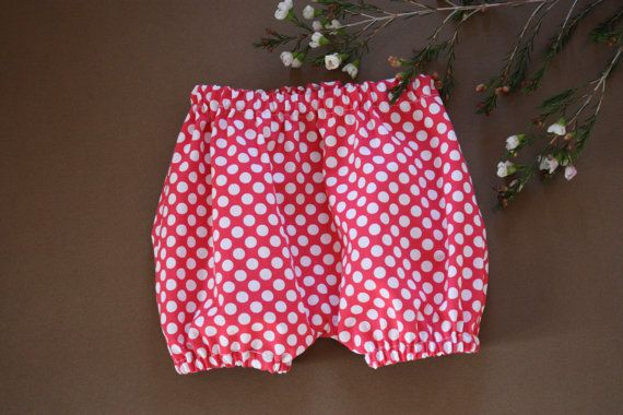 SALE  Baby Bloomers  Dark Pink with white by RainbowSparklesBlue
