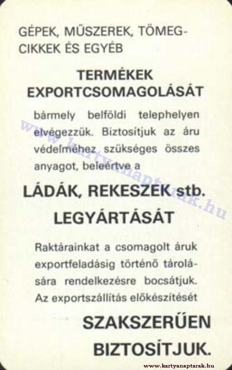1976 - 1976_0826 - Régi magyar kártyanaptárak