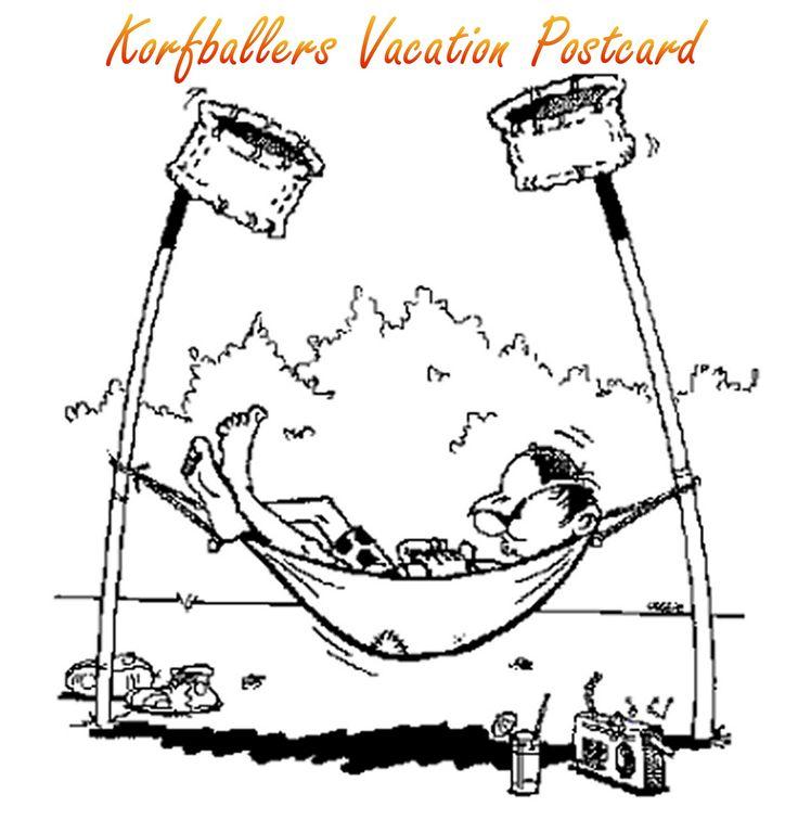 Korfballers vacation postcard