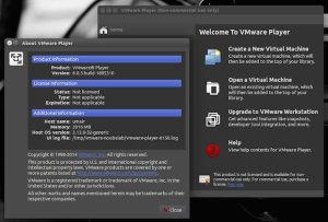 Se você está precisando usar o virtualizador da VMware em seu sistema veja nesse tutorial Como instalar a versão mais recente do VMware Player no Linux.  Leia o restante do texto Como instalar o VMware Player no Linux  from Como instalar o VMware Player no Linux