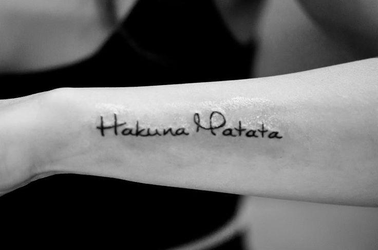 Hakuna Matata.. Cute tattoo but I really like the font!