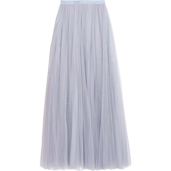 Needle & Thread Tulle maxi skirt (675 MYR) ❤ liked on Polyvore featuring skirts, tulle skirts, ankle length skirts, long tulle skirt, floor length skirt and long skirts