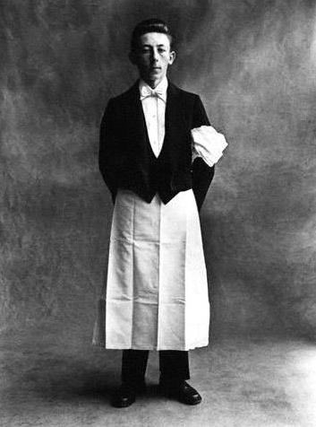 Irving Penn photo - waiter