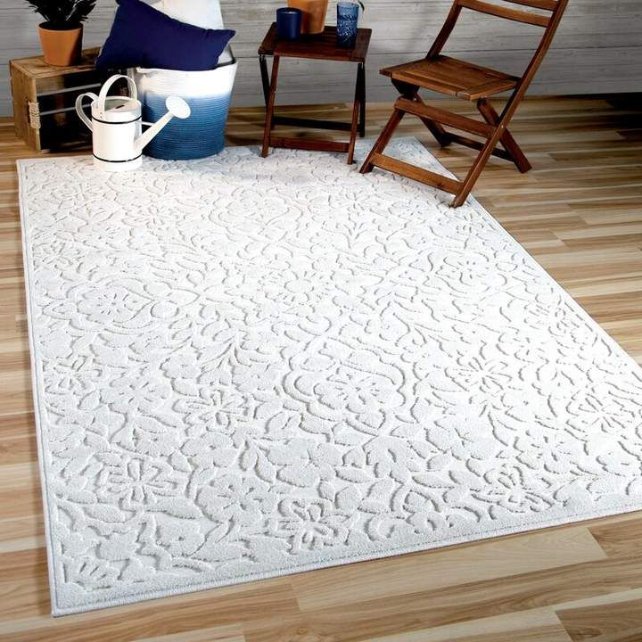 Charlton Home Farner Cottage Floral Natural Ivory Area Rug Area Rugs Orian Rugs Natural Area Rugs