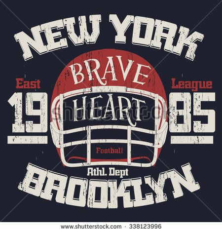 Football Athletics Sport Typography, T-shirt fashion design - grunge style graphics, Vintage Print for sportswear apparel. vector