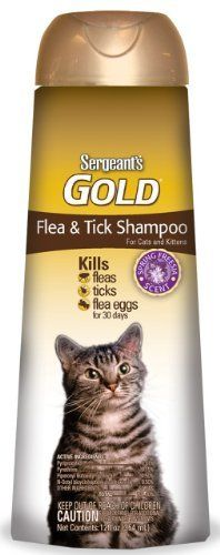 SergeantS 12Ounce Gold Flea And Tick Shampoo Cat Pack of 3 Misc * For more information, visit image link.