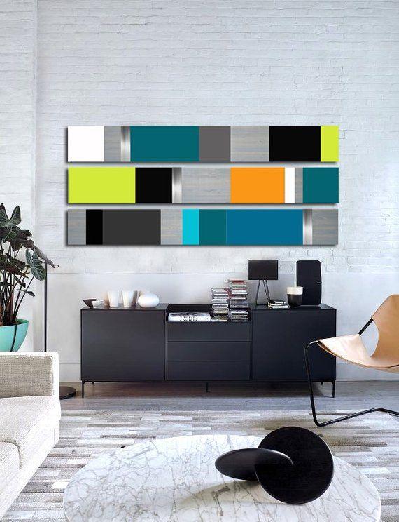 Minimalist Art Large Art Wood Wall Art Mid Century Modern Etsy In 2021 Wood Wall Art Decor Modern Wall Decor Living Room Paint