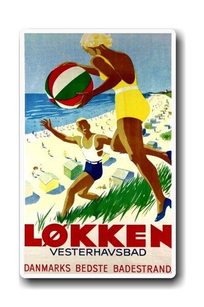 Vintage Løkken poster