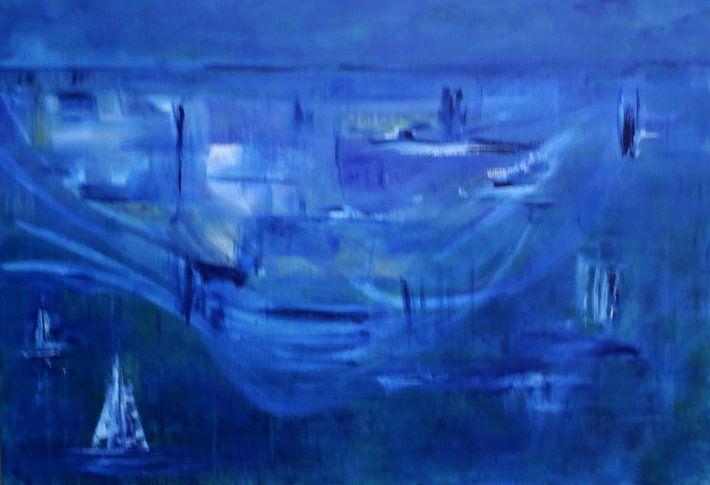 """""""Silhouette """" by artist Carol Hazel - Buy Western Australian Art Online from Out of the Box Biz"""