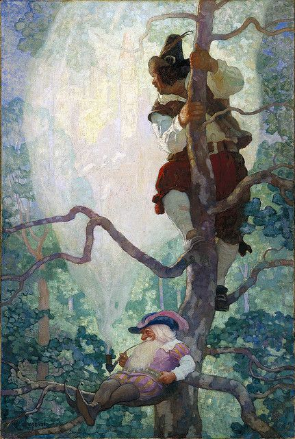 """N.C. Wyeth: """"Visions of New York"""" 1926 Oil painting illustration. 48 x 32 inches."""
