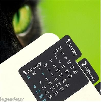 2013 Calendar Sticker Black Index for Monthly Planner Scheduler Organizer Agenda | eBay