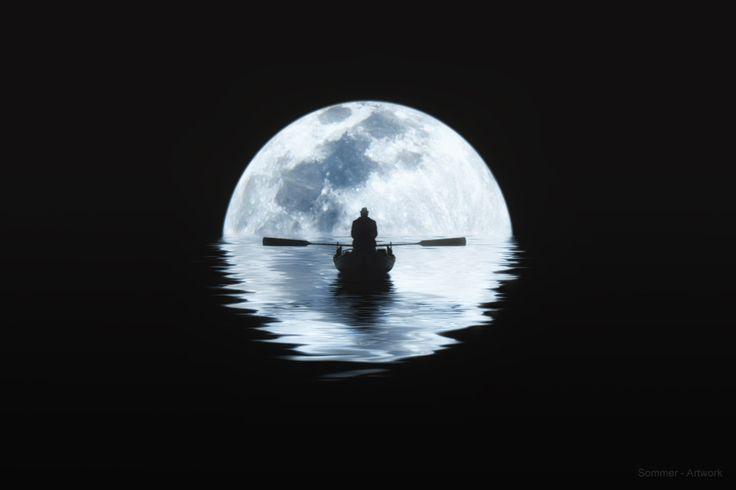 Photo Rowing in Moonlight par Carsten Sommer on 500px ...