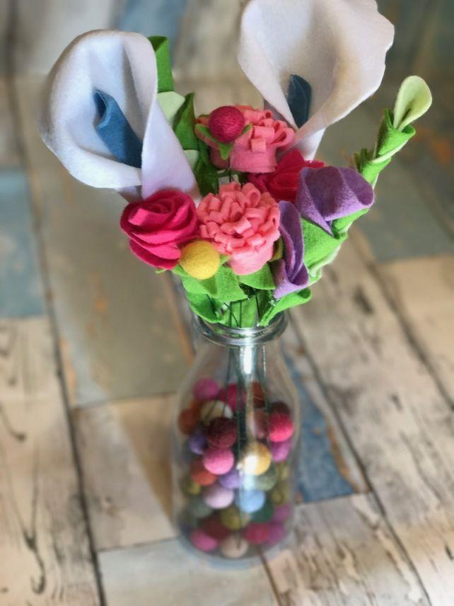 how to make felt flower bouquet