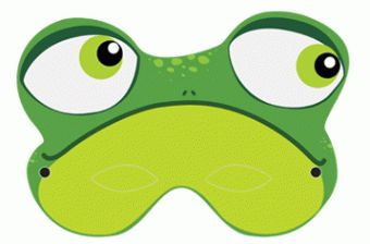 frog mask - free printable from www. nanacake.nl
