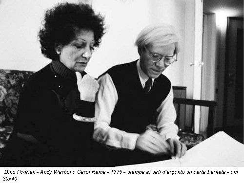 Carol Rama e Andy Warhol, 1975 ph. Dino Pedriali