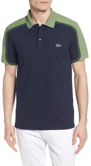 c098dd7d43 Lacoste Made in France Colorblock Pique Polo | Polos | Camisa polo ...
