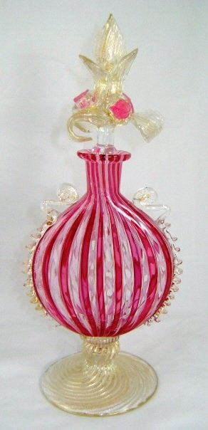 Venetian Glass Italian Perfume Bottle by Paula