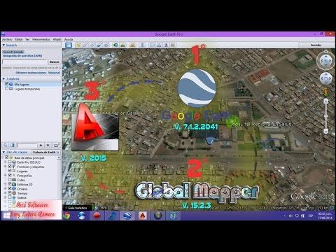 Como Generar Curvas de Nivel Utilizando Google Earth, Global Mapper y AutoCAD - YouTube
