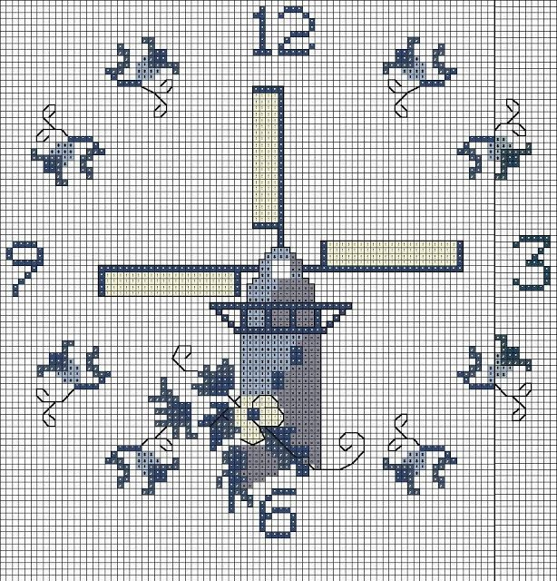 Emy's Gallery: Wonderful Cross Stitch Clocks Pattern