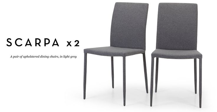 Pair of Scarpa Dining Chairs in light grey   made.com