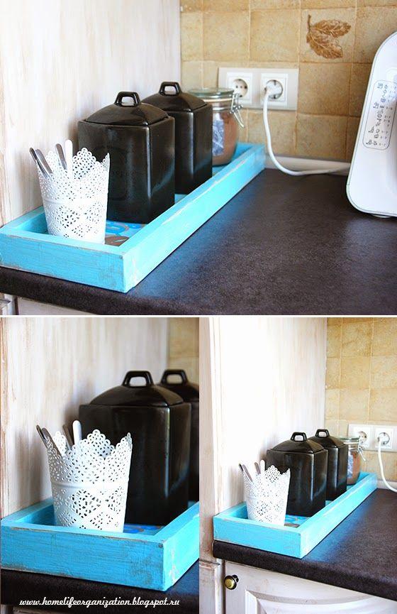 Своими руками: Ретро поднос для чайно-кофейной станции