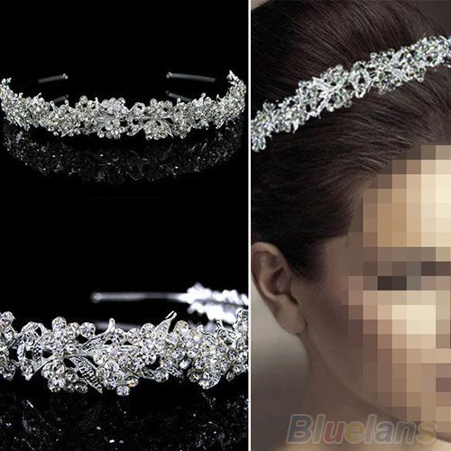 Women's Vogue Grail Twinkling Full Crystal Flower Leaf Wedding Bridal Girl Tiara #AtlantaMart2005au #Tiara