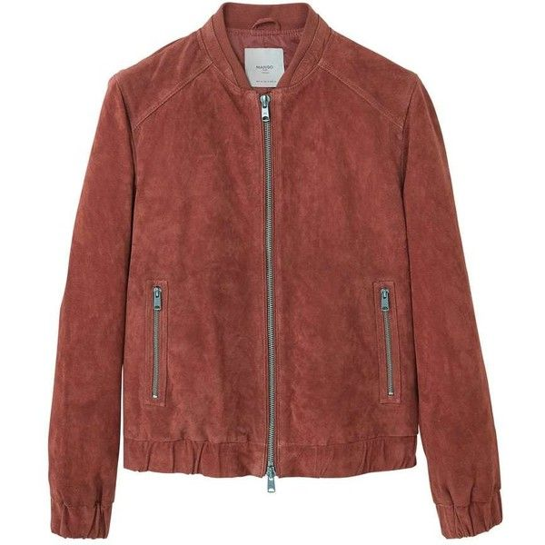 Suede Biker Jacket ($155) ❤ liked on Polyvore featuring outerwear, jackets, suede jacket, mango jackets, suede motorcycle jackets, red jacket and suede moto jackets