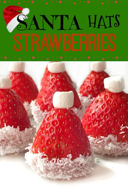 Sherbakes: Strawberry Santa Hats for Christmas