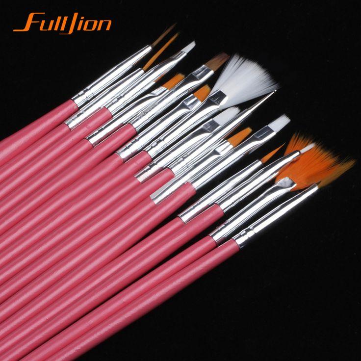 15/7Pcs /set Nail Art Polish Painting Draw Pen Brush Tips Tools Set UV Gel Cosmetic Nail tools pinceis nail brush  nail makeup