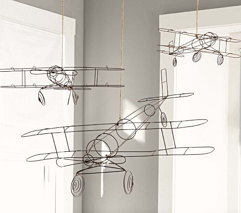 $39-$69, So cool! Especially for H.R.H.'s bedroom, huh Mandy? :) Wire Hanging Airplanes #aviatoradam