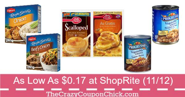 Stock Up! Progresso Soup, Betty Crocker Potatoes & Lipton Recipe Secrets Only $0.17 at ShopRite (11/12)