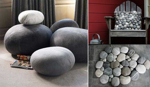 I absolutely love these. They look so realistic and they are really unique. I would love to have the river stones rug on my hard wood floor
