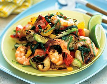 Grilled Gazpacho Salad with Shrimp | Recipe | Gazpacho, Shrimp and ...
