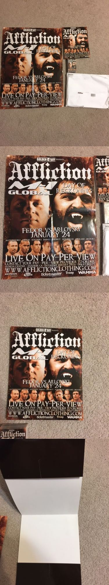 Mixed Martial Arts MMA Cards 170134: Fedor Emelianenko Andrei Arlovski Affliction Day Of Reckoning Promo Package -> BUY IT NOW ONLY: $399 on eBay!