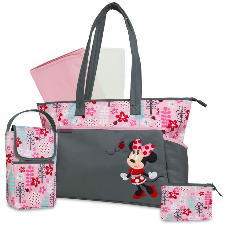 grab a friend and go this 5 piece diaper tote featuring. Black Bedroom Furniture Sets. Home Design Ideas