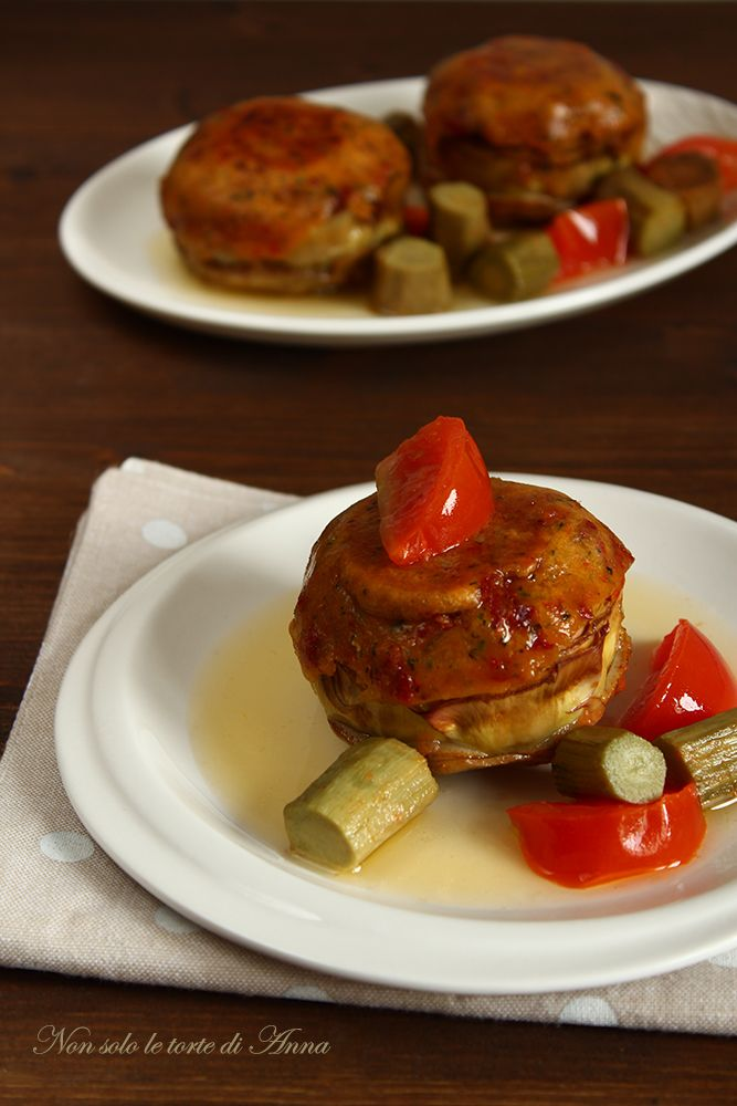 ottimi carciofi farciti in padella per pranzo o cena
