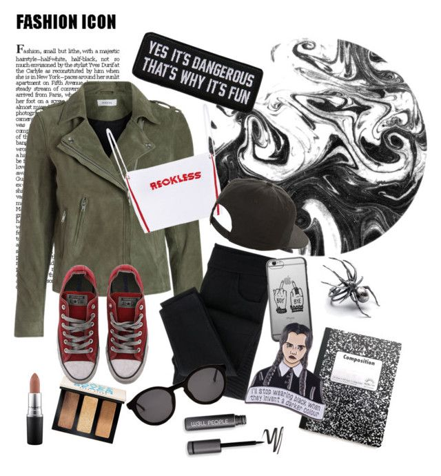 """""""Reckless"""" by kawaiitimemachine on Polyvore featuring NIKE, Bobbi Brown Cosmetics, Converse, MAC Cosmetics and Thierry Lasry"""