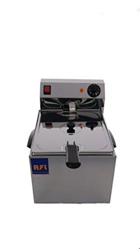 New Stainless Rectangular Shape AFI Modern Stainless Steel Color Size 280x430x290 mm. Deep Fryers