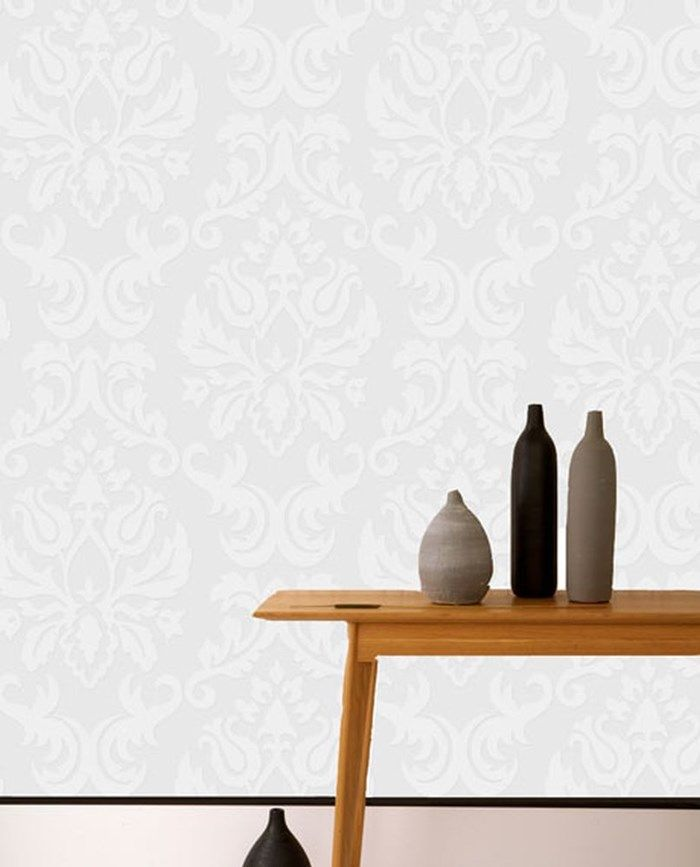 Attractive Graham U0026 Brown Large Damask Wallpaper   This Paintable Wallpaper Allows You  To Create Your Own Unique Style. For A Clean Look, Leave It White Or Add  Your ...