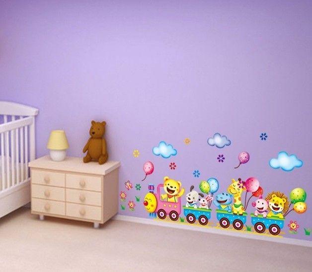 Superb Wandtattoo Vinyl Tiere f r Kinderzimmer