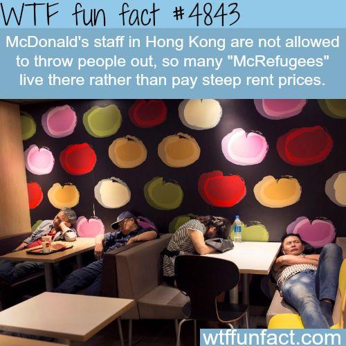 McRefugees in Hong Kong - WOW! Jus WOW!  ~WTF? not-a-fun fact...
