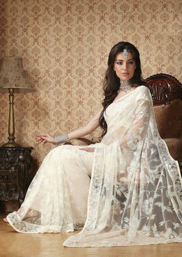 White saree bridal                                                                                                                                                                                 More