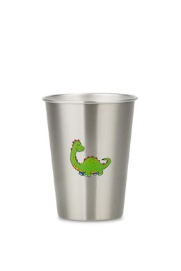 NEW LOOK DINOSAUR 350ml illustrated stainless steel cup from ecococoon RRP$10.95