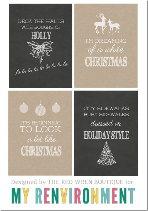 Free Printable Christmas Journal Cards for Project Life from The Red Wren