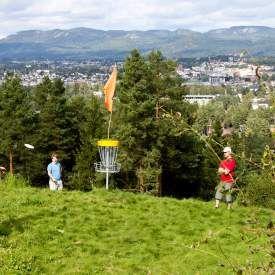 Discgolf, Frisbeegolf, Skien fritidspark