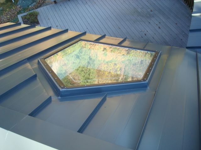Cool Skylight With Metal Roof