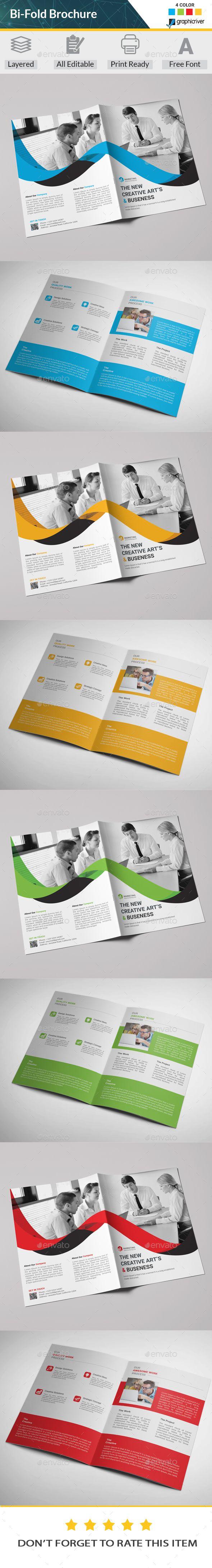 #Bi-fold Brochure - Corporate #Brochures Download here: https://graphicriver.net/item/bifold-brochure/20265201?ref=alena994