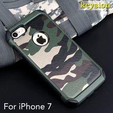 Case para iphone 7 4.7 ''2in1 armadura híbrido plastic + tpu camo camuflagem do exército tampa traseira com ângulo especial à prova de choque de telefone alishoppbrasil