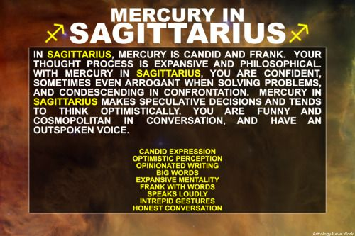 Mercury in Sagittarius - Sign up here to see more:http://bit.ly/1dqeH58